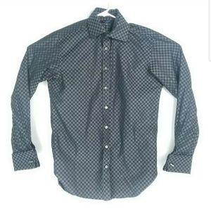 Ted Baker Mens 15.5 Shirt Long Sleeve Flip Cuff